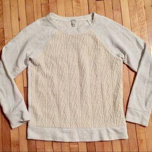 J. Crew cream knit sweatshirt